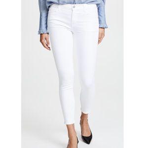NWT J Brand Mid Rise Capri Blanc White Jeans 26